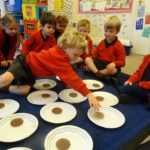 Children at Queen's House take part in a maths investigation morning