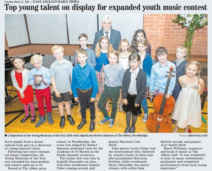 Top young talent on display for expanded youth music contest EADT